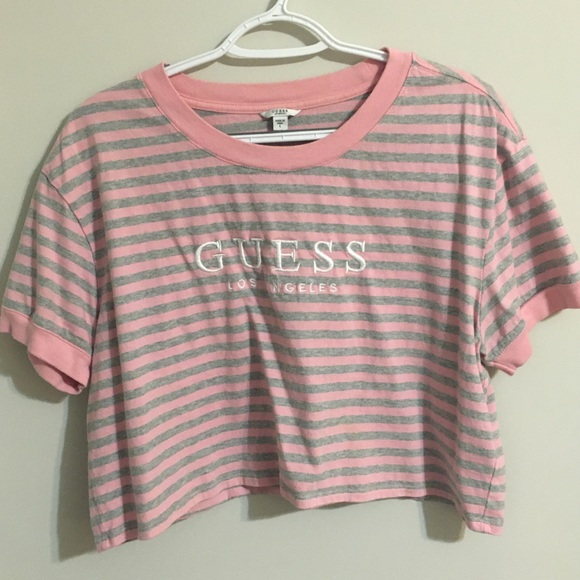 Guess Tops - GUESS striped crop tee